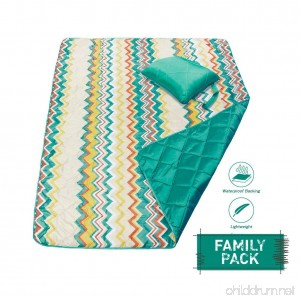 DOZZZ Foldable Compact Waterproof And Sand proof Picnic Blanket For Camping Beach Outdoor Park Grass Travel Festivals Sporting Events - B0788KVM28