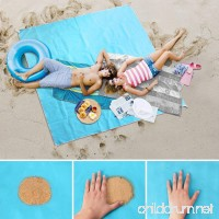 "FRiEQ Sand Free Beach Mat/Outdoor Blanket  Compact and Lightweight with Large Size 79""×79"" for Summer Beach or Outdoor Supplies - B07DJ38HPN"
