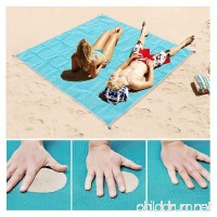 HEHUI Sand Free Beach Mat  Sand Proof Mat is Easy to Clean and Dust Prevention  Perfect for the Outdoor Events with Your Family Fashion Shoulder bag and Durable Plastic Anchors Included - B07BX913PP