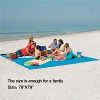 "Sand Free Beach Mat-Outdoor Sand Proof Beach Blanket Waterproof Picnic Mat For Travel Camping Hiking 79""X79"" - B07CKTPSW8"