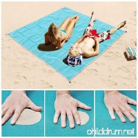 Sand Proof Beach Blanket Dirt & Dust Free Picnic Mat Blue Outdoor Camping Rug Fast Dry Waterproof Lightweight & Compact Large Beach Towel - B07BWH1QV1