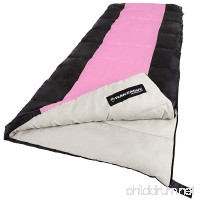 Sleeping Bag 2-Season With Carrying Bag For Adults and Kids - B071125T29