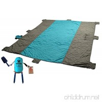 Vcon22 BLUNKEE Sand Proof Beach Blanket XL 10x9ft Soft QuickDry with Sand Shovel Bottle Opener 8 Sand Pockets Stakes Huge Zippered Pocket. Outdoor Mat for Picnic Camping Hiking or Festivals - B07BTPFDL2