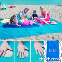 VI AI Beach Mat Sand Proof Blanket Sand Free Beach Mat Easy to Clean Perfect for the Beach - Dirt & Dust disappear 79'' x 79'' Large - B07BJL4GVG
