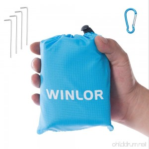 Winlor waterproof sandproof compact pocket blanket for beach picnic hiking camping travel 55''x60'' - B07DHVRBDV