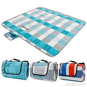 ZOMAKE Picnic Blanket Waterproof Extra Large Outdoot Blanket with Waterproof Backing for Family Concerts Beach Park - B071Z7CCBK