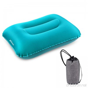 KUYOU Inflatable Camping Pillow Compressible Ultralight Ergonomic Portable Air Pillow for Neck and Lumbar Support Compact Sleeping Pillow for Hiking Travel Trips Beach Use - B078HDCV6T