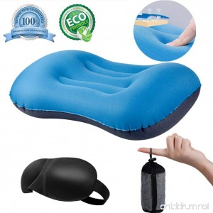 QEBABY Camping Pillow - Ultralight Inflatable Pillows Soft Compressible Neck Lumbar Support Travel Air Pillow for Outdoor Camp Air Blow Up Portable Sleeping Pillows - B07DL9C7NG