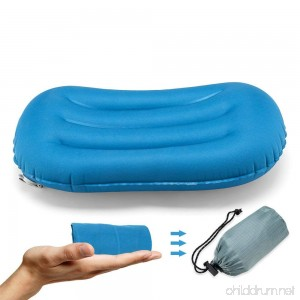 Wonyered Ultralight Inflating Travel Pillow Support Inflatable Compressible Compact Air Travel Pillow for Outdoor Hiking Backpacking Airplane Car Office for a Good Night Sleep - B075ZR3D3P