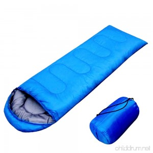 Camping Sleeping Bag Envelope Sleeping Bag Easy to carry Blue Warm Adult Sleeping Bag Outdoor Sports Camping Hiking With Carry Bag Lightweight - B01EWUUJKE