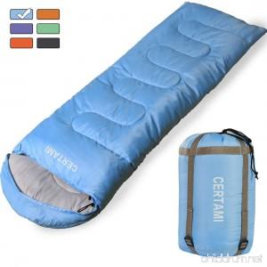 CERTAMI Sleeping Bag -Envelope Lightweight Portable Waterproof for Adult 3 Season Outdoor Camping Hiking. - B0799DYTH8