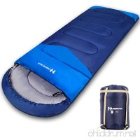 Hugerock Sleeping Bags for Adults - for Camping  Hiking  Outdoor  with Compression Sack- 3 Season Blue - B0768L3RL5
