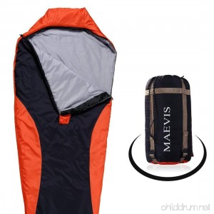 Maevis all Season 330GSM Sleeping Bag Envelope Mummy Lightweight Portable Waterproof with Compresshion Bag - Fit for Camping Hiking Traveling & Outdoor - B074M3MJ1X