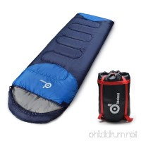 ODOLAND Cool Weather Waterproof Windproof Envelope Sleeping Bag with Compression Bag - Comfort Lightweight Portable Camping Gear for Outdoor Hiking Traveling and Survival - B01J2WGGUO