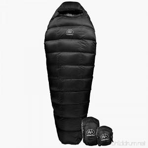 Outdoor Vitals Summit 20°F Down Sleeping Bag 800 Fill Power 3 Season Mummy Ultralight Camping Hiking - B06VWVHVRH
