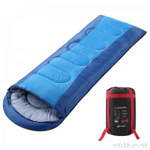 SEMOO Envelope Sleeping Bag - Lightweight Portable Waterproof Comfort With Compression Sack Temp Rating 23F/-5C - Great For 3 Season Traveling Backpacking Camping Hiking - B07CLSGLZN