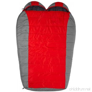 Teton Sports Tracker Ultralight Double Sleeping Bag; Lightweight Backpacking Sleeping Bag for Hiking and Camping Outdoors; Compression Sack Included; Never Roll Your Sleeping Bag Again - B00SWE08BW