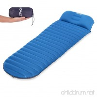 DOACT Sleeping Pad for Camping Backpacking Hiking Traveling  Inflatable No Leakage Air Pad Used with Sleeping Bag or Mat for Sleep Comfortably All Night - B07D6HRWR2