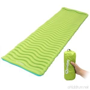 Exqline Sleeping Pad Ultralight Inflatable Sleeping Pad Ultra-Compact Sleeping Mat for Backpacking Camping Hiking Traveling - B07D8TC6DF
