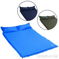 FRUITEAM sleeping pad double self inflating camping pad large for 2 person air mattress with Pillow - B07CJ23HPB