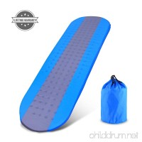 OUTCAMER Sleeping Pad with Attached Pillow  Self Inflating Sleeping Pad  Lightweight Inflatable Foam Padding Sleeping Mat for Camping Backpacking Hiking - Insulated Compact - for Kids - B07FMMR4ZM