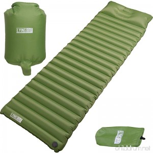Premium Fast & Easy Inflatable Ultralight Sleeping Pad Camping Thick insulation mat w/Builtin Pillow & Inflating bag: Compact & Lightweight Air Mattress for Hiking and Backpacking Closed-cell design - B075DGQVR2