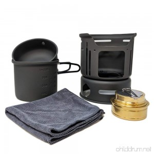BATTLBOX 5 Piece Camp Cookware Set - Outdoor Hiking Portable Cooking Stove Kit - B07FQ234KY