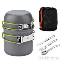 ECVILLA Camping Mess Kit and Cookware Set - Cooking Picnic Bowl Pot Pan Set 2 Piece - B06ZZZQZH8