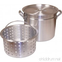 King Kooker KK80R Aluminum Pot with Basket and Lid  80-Quart - B0094BMEFK