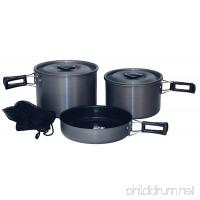 Texsport Trailblazer Black Ice Hard Anodized Cook Set - B000P9ISSC