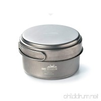 AMG Titanium Lightweight Uncoated Outdoor Camping Cookware Backpacking - Medium 42.26oz - B01MAW5KAM