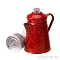 Camping 8 Cup Red Enamel Percolator Coffee Pot. Hiking Outdoor Steel Tea Kettle ♥ What's Hot - B01N0IZ0J9