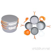 GasOne Anodizing Aluminum Cook Set (3-5 people) - Outdoor cooking/Hiking/Backpacking cookware - B0096CFNBE