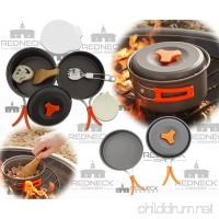Redneck Convent Outdoor Camping Cookware Set – Compact Camp Cooking Backpack Mess Kit – Campfire Pot  Pan  Utensils in Drawstring Bag - B01M1DNUXZ