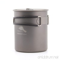 TOAKS POT-800 Ultralight Titanium Pot Outdoor Camping Cookware Titanium Water Cup Folding Handle 800ml - B06XSBS1W9