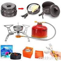 New Camping Cookware Stove Multifunctional Spoon Set By WQWL 1-2 Persons Outdoor Portable Ultralight Aluminium Alloy Camping Hiking Backpacking Non-stick Kit Pan - B07146HN5T