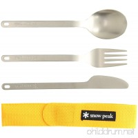 Snow Peak Men's Titanium Silverware Set - B07CKSM6MD