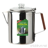 Coghlan's 12-Cup Stainless Steel Coffee Pot  Silver - B00AMSZTVA