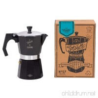 Gentlemen's Hardware Stovetop Coffee Maker  Black - B0198LSNIW