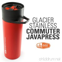 GSI Outdoors - Glacier Stainless Commuter JavaPress  French Press Coffee Mug  Superior Backcountry Cookware Since 1985 - B00UTKLP3M