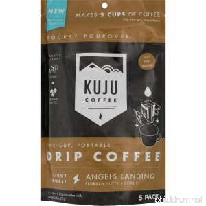 KUJU COFFEE Pocket PourOver Coffee - 5-Pack - B0752MPL5K