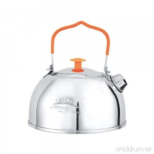 SUNRIS BRS Food Grade Stainless Steel Water Kettle Tea Pot for Outdoor Camping Hiking Picnic - B075XHH3Q3