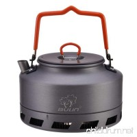 Tentock Outdoor Fast Heating Tea Pot Portable Hard Aluminum Camping Kettle 1L/1.6L - B07795S6XV