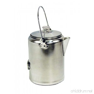 Texsport Aluminum 9 Cup Percolator Coffee Maker for Outdoor Camping - B001DZQYJW