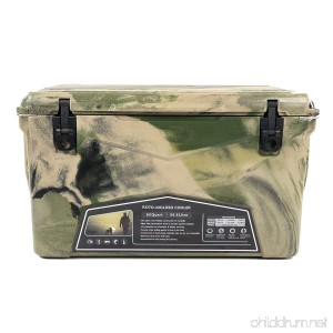 Clevr Pro Roto-Molded 60 Quart High Performance Cooler Ice Chest Outdoor Camouflage - B07F967X89