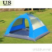 3-4 Person Double Layer Waterproof 4 Season Family Camping Hiking Tent Aluminum - B07BHKNBKB