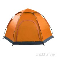 3-5 People  Hexagonal Yurts  Outdoor Camping Tents  Single Storey  Double Doors  Fully Automatic  Pop up Tents - B07FY4VHHB