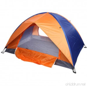 Bartonisen Dual Layer 2-Door Dome Tent with Ventilation and Rain Cover - Easy Setup - B07B4ZBH6P