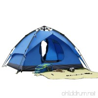 Beneyond 3-4 People Pop up Tents Fully Automatic Outdoor/Two-story/Dual-use Camping Tents Anti-rain/Anti-mosquito/Sunshade / Field Tent - B07FXL5RVT