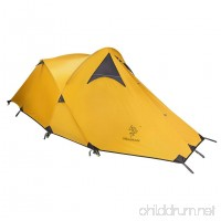 Hillman Portable Camping Tent Silicon Stronger Wind Resistance Tent with Storage Bag Yellow - B06XZ3M9VM